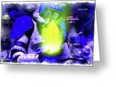 Execute Order 66 Blue Team Commander - Cartoonized Style Greeting Card