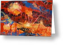 Explosions Of Light Greeting Card