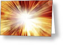 Explosive Background  Greeting Card