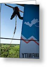 Extreme Sports Ropejumping Greeting Card