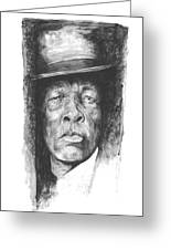 Face Of The Blues - John Lee Hooker Greeting Card
