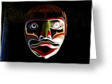 Face Of Totem Greeting Card