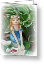Fairy In Flowerbed Greeting Card