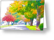 Fall In Holly Hill Greeting Card