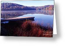 Fall Morning On The Lake Greeting Card