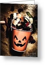 Fall Of Halloween Greeting Card