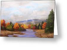 Fall Pond Scene Greeting Card