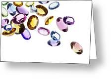 Falling Gems Greeting Card