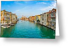 Famous Canal Grande In Venice Greeting Card