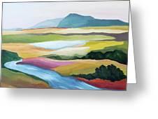 Fantasy Landscape Greeting Card by Carola Ann-Margret Forsberg
