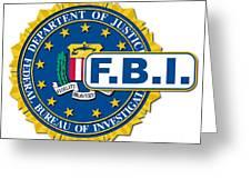 Fbi Seal Mockup Greeting Card