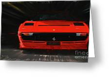 Ferrari 208 Gtb Turbo. Greeting Card
