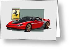 Ferrari Sergio With 3d Badge  Greeting Card by Serge Averbukh