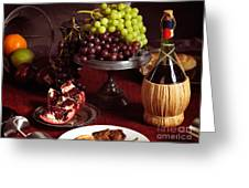 Festive Dinner Still Life Greeting Card by Oleksiy Maksymenko