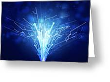 Fiber Optics And Circuit Board Greeting Card