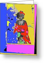 Film Homage Ann-margret Collage Train Robbers 1973 The Great White Hope Globe Arizona 1969 Greeting Card