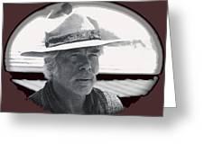 Film Homage Lee Marvin Monte Walsh Collage Variation 2 Old Tucson Arizona 1969-2012 Greeting Card