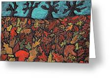Finding Autumn Leaves Greeting Card