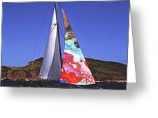 Fine Art Sails Greeting Card by Dan Cope
