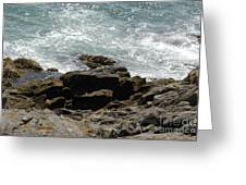 Fine Art Water And Rocks Greeting Card