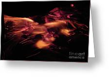 Fire Abstract  Greeting Card