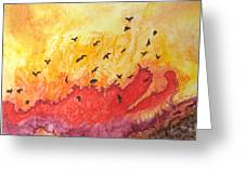 Fire Birds Greeting Card