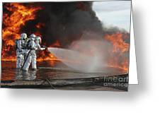 Firefighting Marines Battle A Huge Greeting Card