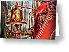 Fireman - The Fire Bell Greeting Card
