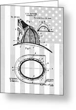 Fireman's Helmet Patent Greeting Card