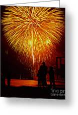 Fireworks Greeting Card by Marc Bittan