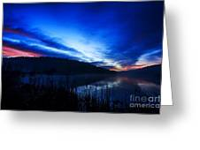 First Light At The Lake Greeting Card