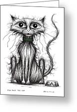 Fish Face The Cat Greeting Card