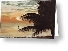 Fisherman At Sunrise Greeting Card