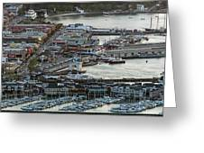 Fisherman's Wharf And Pier 39 Aerial Photo Greeting Card