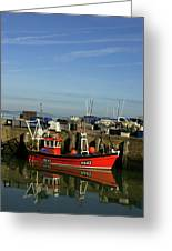 Fishing Boats At Whitstable Harbour 02 Greeting Card