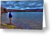 Fishing Limekiln Lake Greeting Card