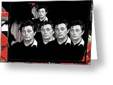 Five Robert Mitchum's Young Billy Young Set Old Tucson Arizona 1968-2012 Greeting Card