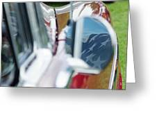 Flag In The 1955 Chevy Bel Air Greeting Card