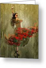 Flamenco In Red Greeting Card