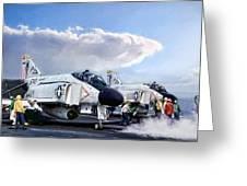 Phantom Flight Deck Greeting Card
