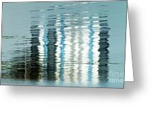 Floating On Blue 45 Greeting Card