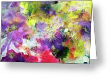 Floral Art Cix Greeting Card