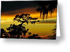 Central Florida Sunset Greeting Card