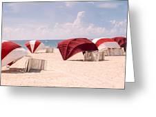 Florida Umbrellas Greeting Card