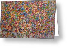 Flower Galaxy Greeting Card