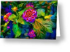 Flowers Confusion Greeting Card