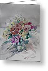 Flowers In A Glass Greeting Card