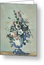 Flowers In A Rococo Vase Greeting Card