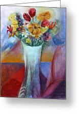 Flowers In Vase Vii Greeting Card