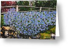 Flowers On The Rock Wall Greeting Card